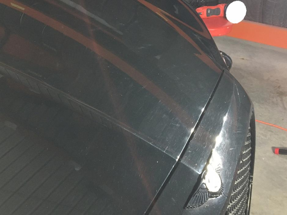 Damaged Automobile Exterior Paint in Need of Correction