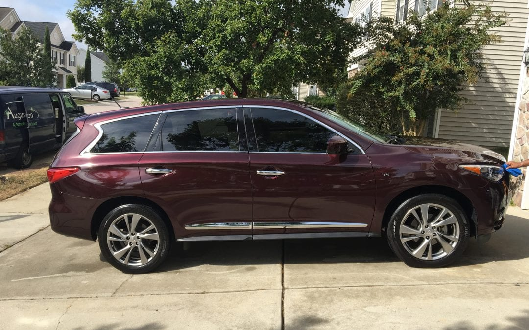 photos of finished 2015 infiniti qx60 august precision. Black Bedroom Furniture Sets. Home Design Ideas