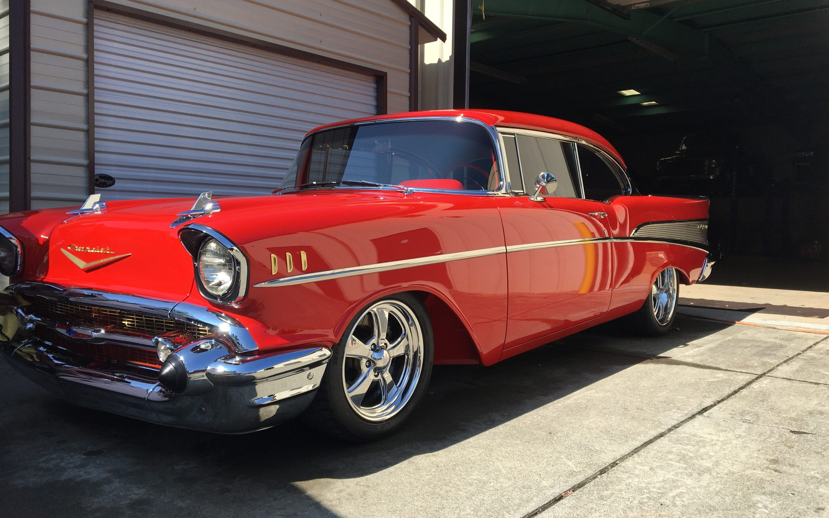 Photos of finished 1955 Chevrolet Bel air