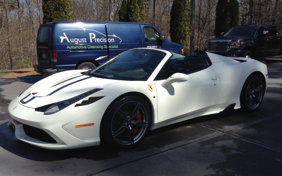 Premier Wash & Quick Restoration of 2015 Ferrari 458 Speciale