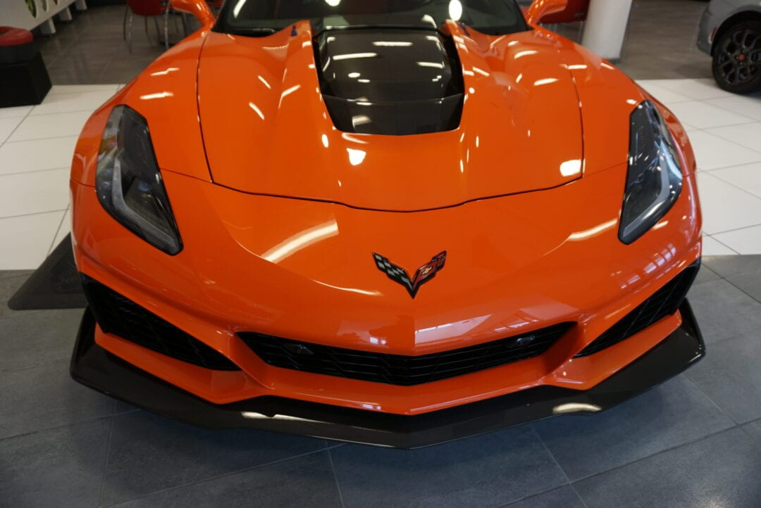 Orange Chevrolet Corvette