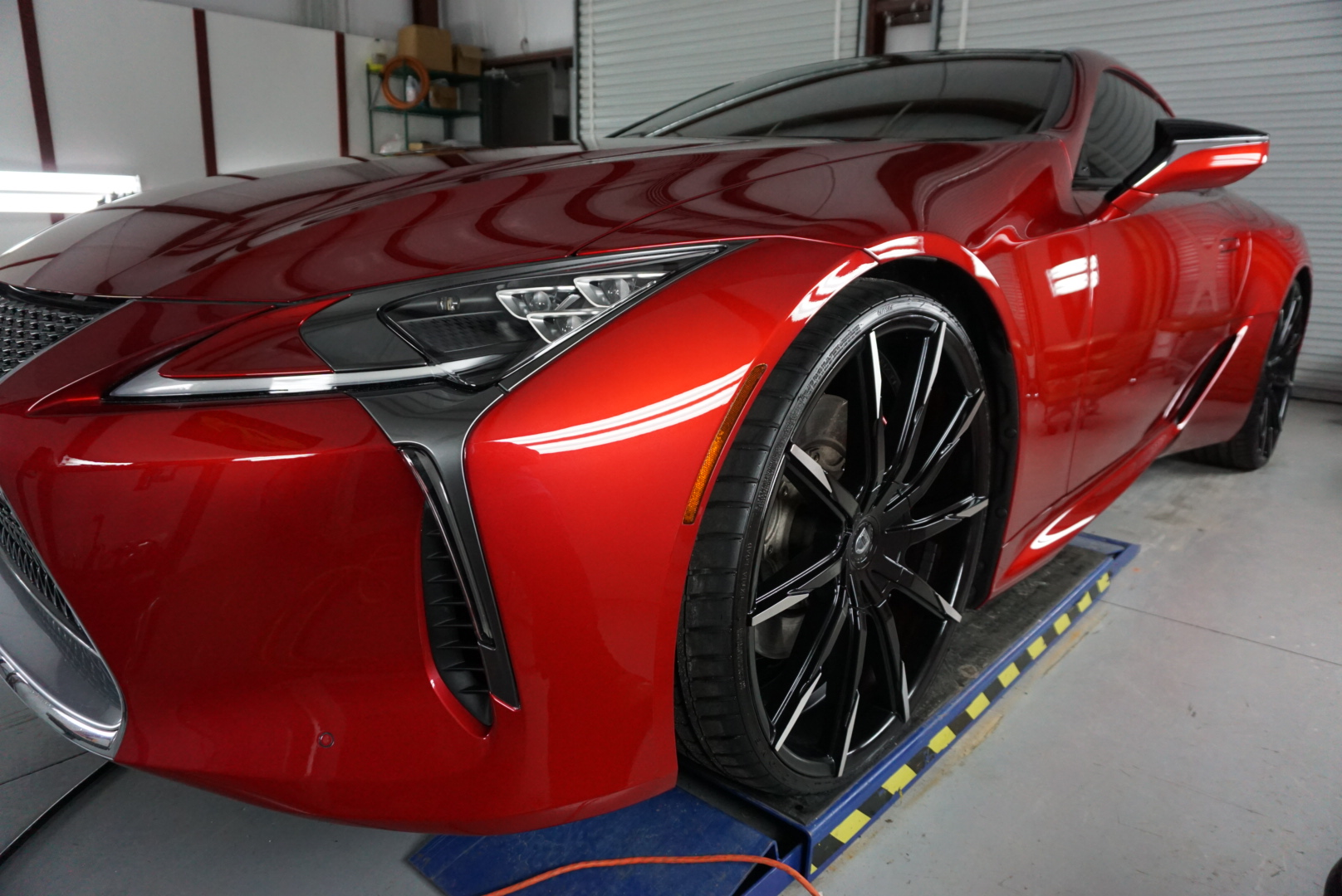 New Car Preparation of a 2018 Lexus LC