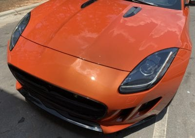 Photo of a 2019 Jaguar F Type being detailed by August Precision