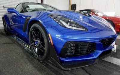 New Car Preparation of a 2019 Chevrolet Corvette
