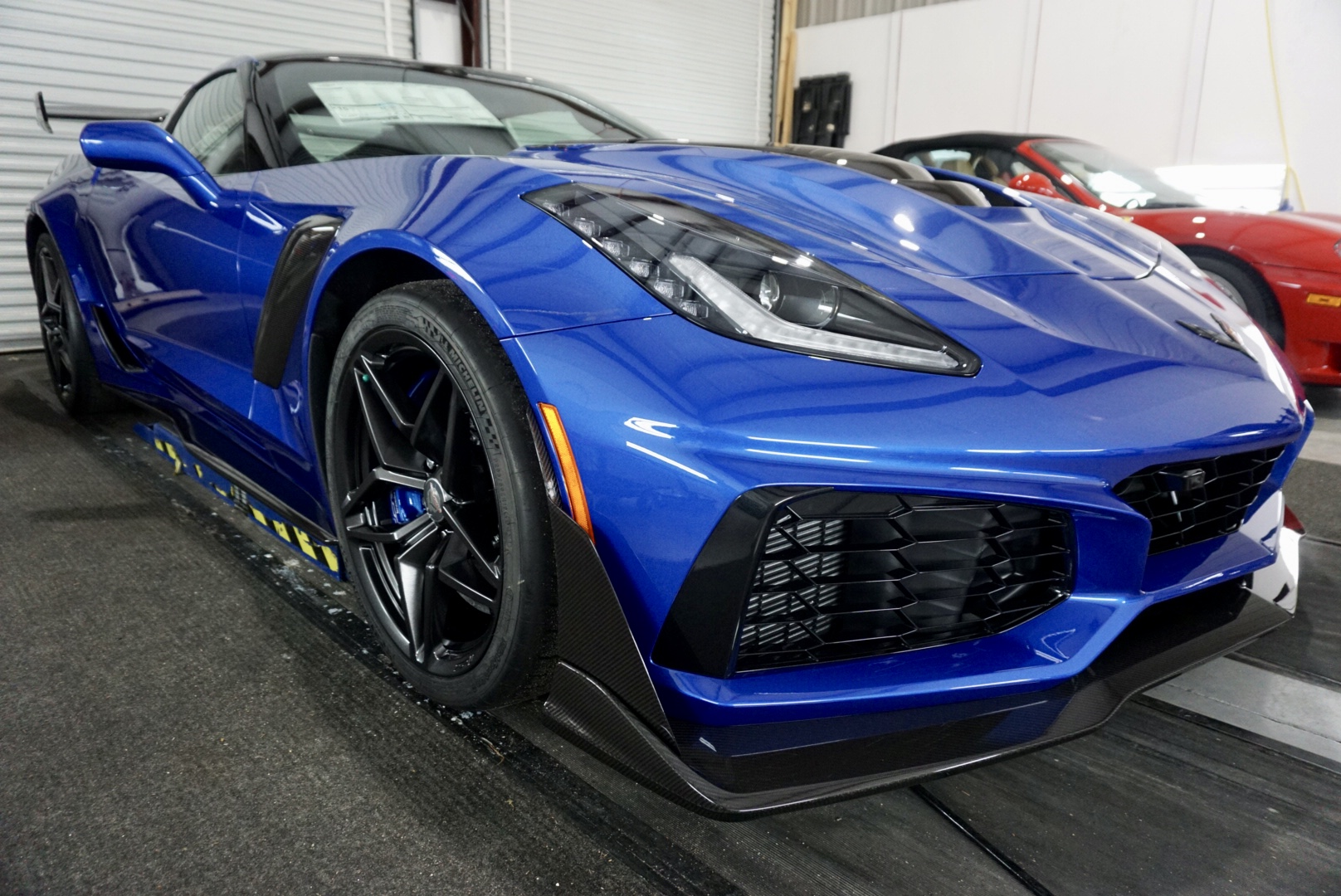 Photo of a New Car Preparation of a 2019 Chevrolet Corvette