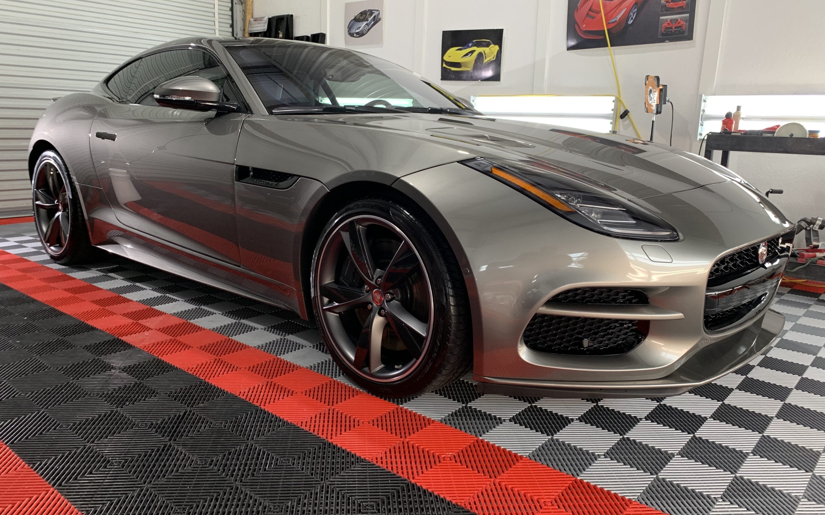 New Car Preparation of a 2019 Jaguar F Type