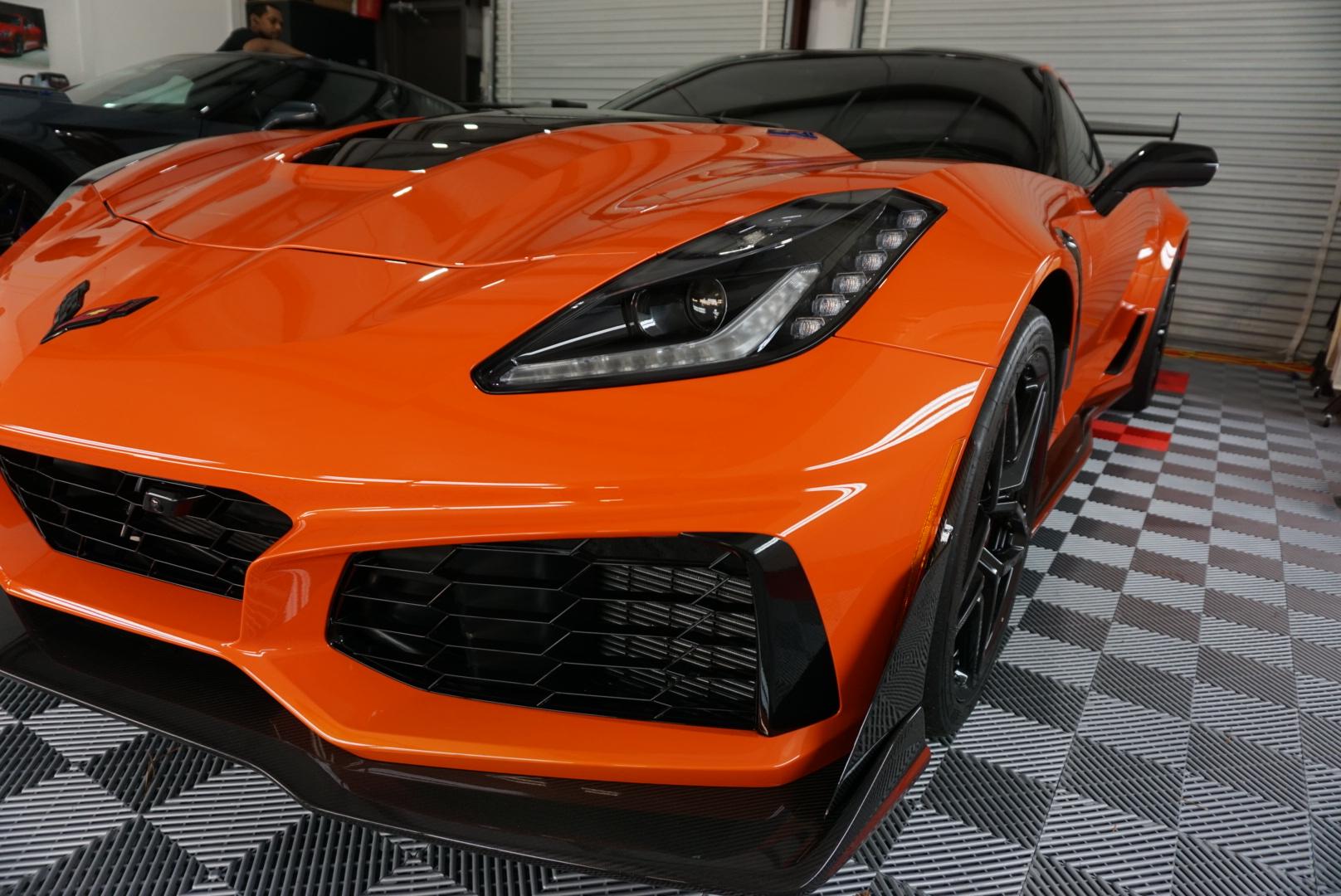Photo of an Orange 2019 Chevrolet Corvette
