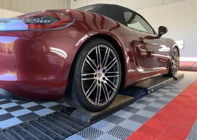 Photo of a Ceramic Coating Being Applied to a 2018 Porsche 718 Boxster