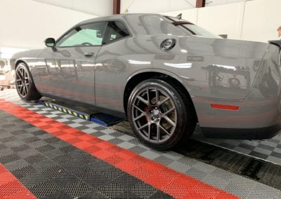 Photo of a New Car Preparation of a 2019 Dodge Challenger