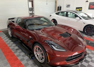 Photo of a New Car Preparation of a 2018 Chevrolet Corvette