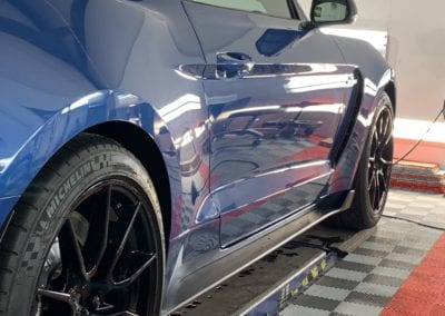 Photo of a Blue Ford Mustang Ceramic Coating Raleigh NC