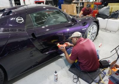 Bob Ingram Porsche Collection Restoration Photos of Porsche 918 Spyder by August Precision