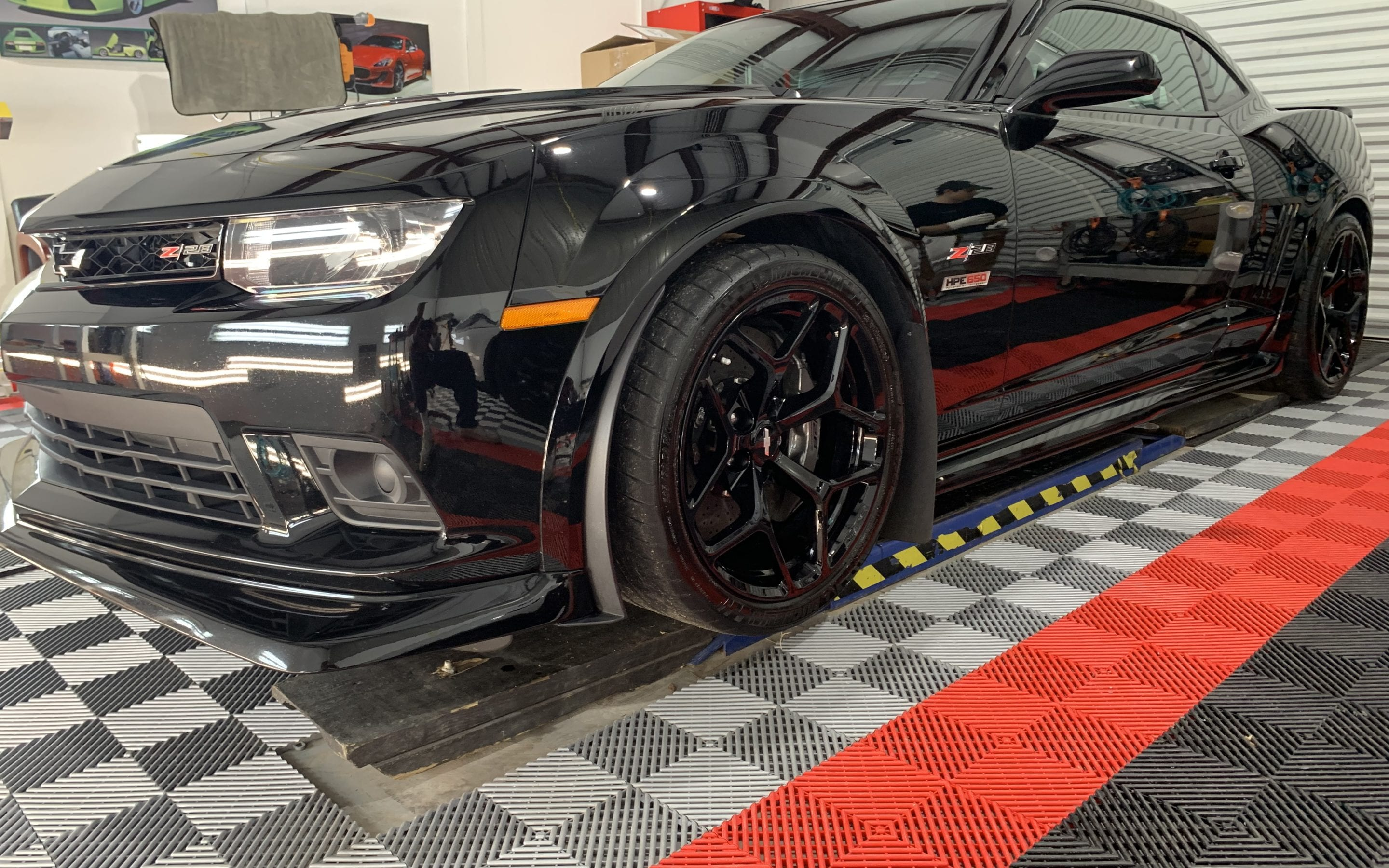 Photo of a Black Camaro Ceramic Coating Raleigh NC