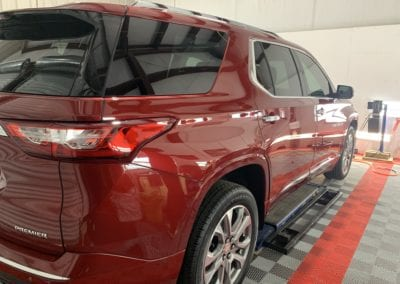 Photo of a New Car Preparation of a 2020 Chevrolet Traverse