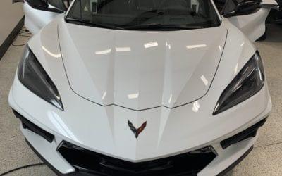 New Car Preparation of a 2020 Chevrolet Corvette C8
