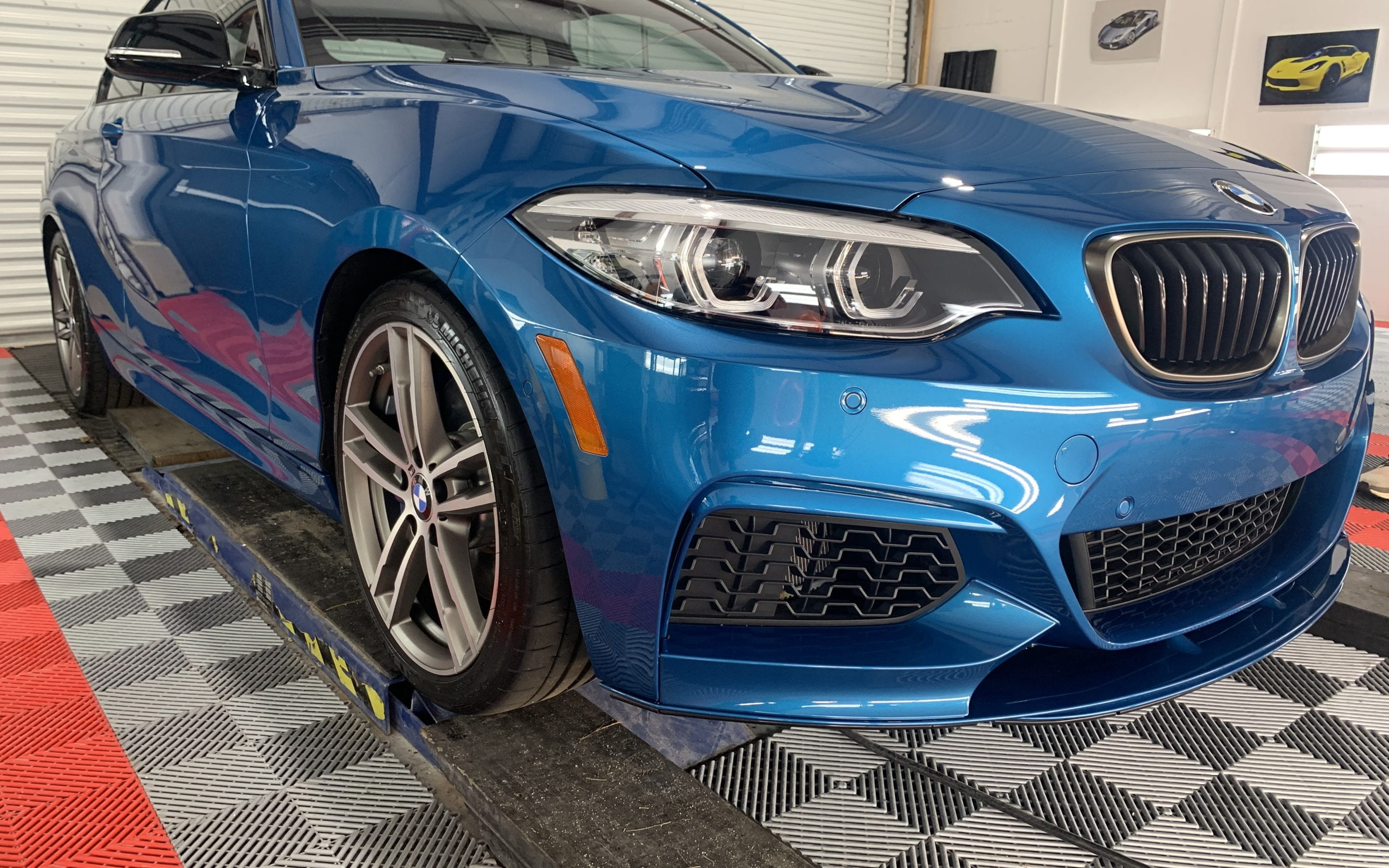 Photo of a blue Ceramic Coating of a 2019 BMW 2 Series