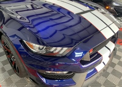 Photo of a New Car Preparation of a 2020 Ford Mustang