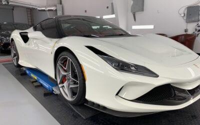 New Car Preparation of a 2020 Ferrari F8 Tributo