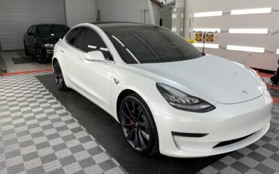 New Car Preparation of a 2019 Tesla Model 3