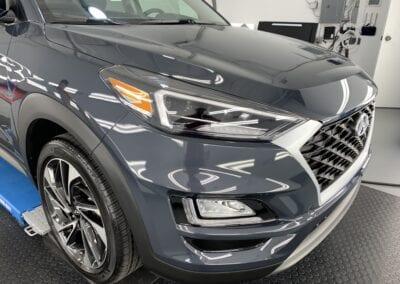Photo of a New Car Preparation of a 2021 Hyundai Tucson