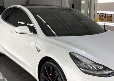 Photo of a New Car Preparation of a 2019 Tesla Model 3