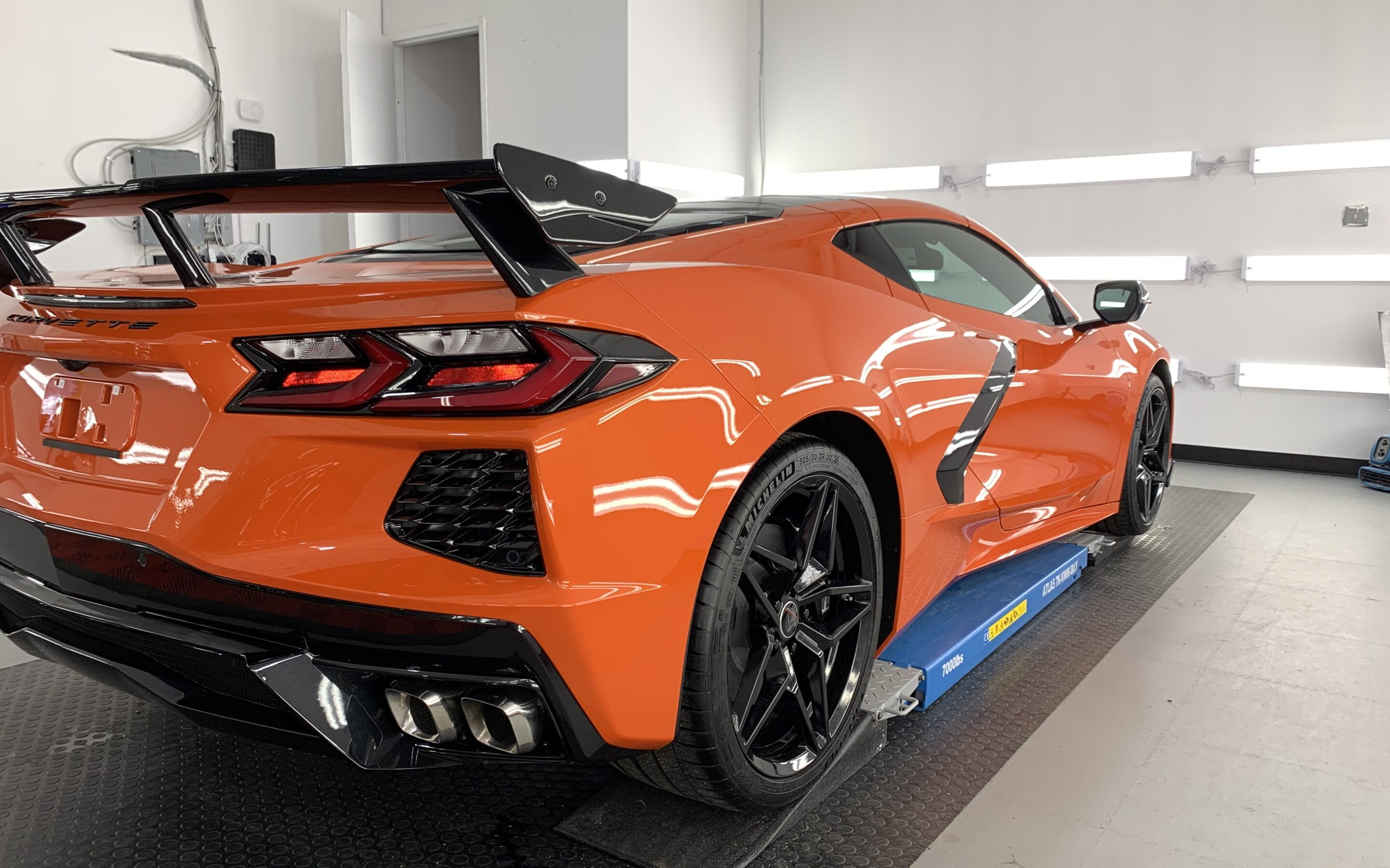 New Car Preparation of a 2020 Chevrolet Corvette