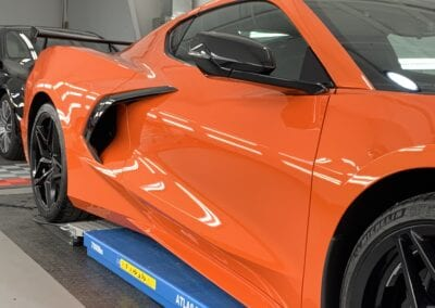 Photo of a New Car Preparation of a 2020 Chevrolet Corvette