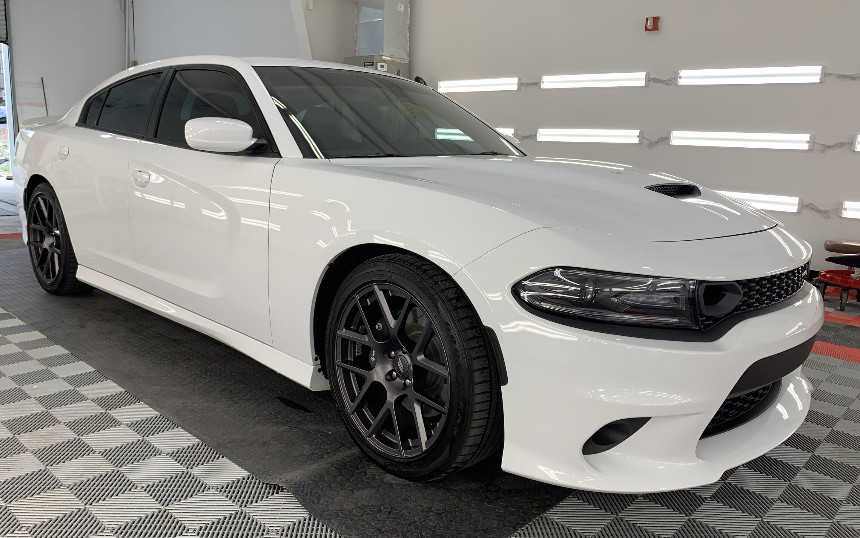Photo of a New Car Preparation of a 2020 Dodge Challenger