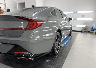 Photo of a New Car Preparation of a 2021 Hyundai Sonata