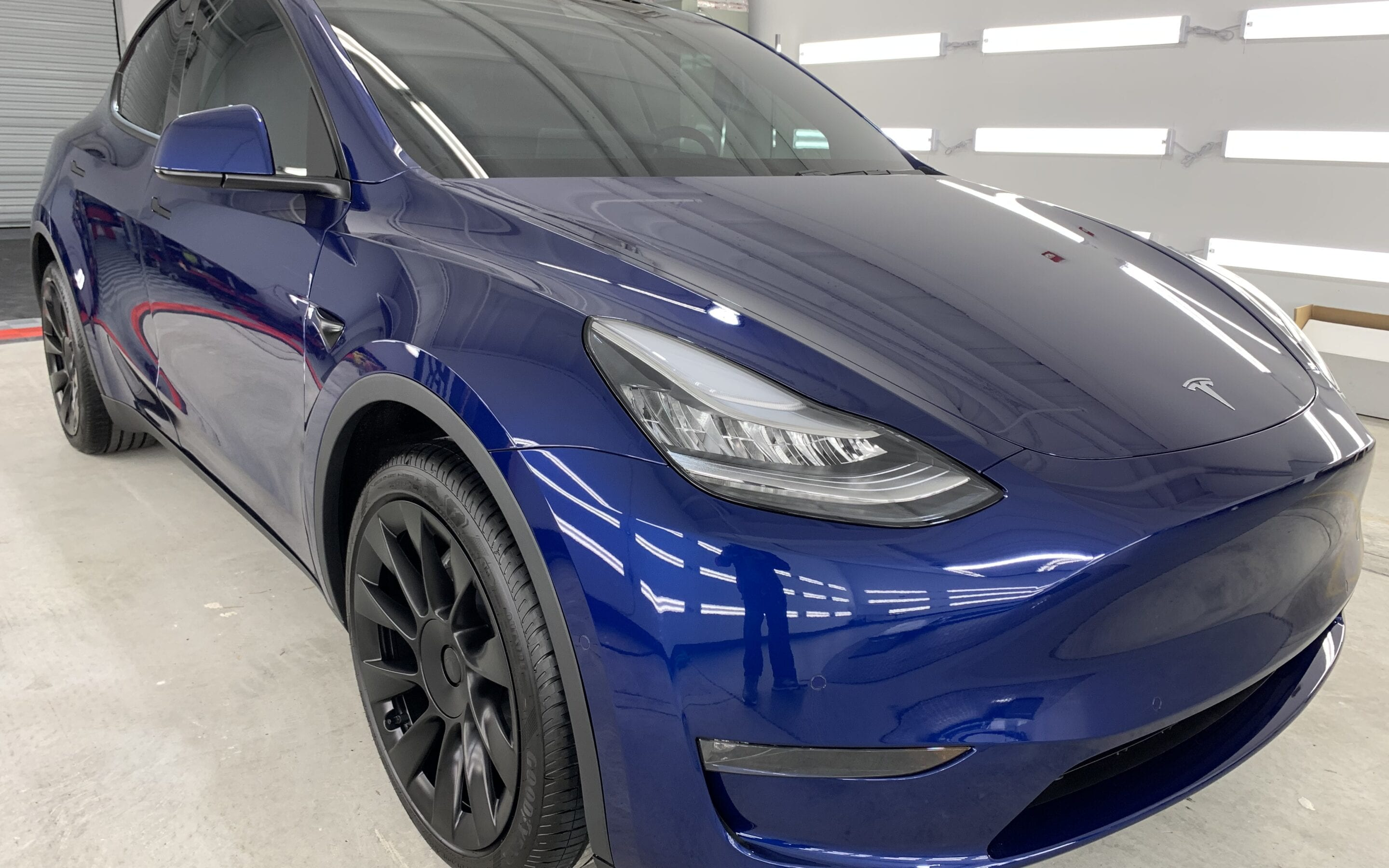 New Car Preparation of a 2021 Tesla Model Y