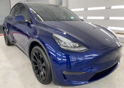 Photo of a New Car Preparation of a 2021 Tesla Model Y