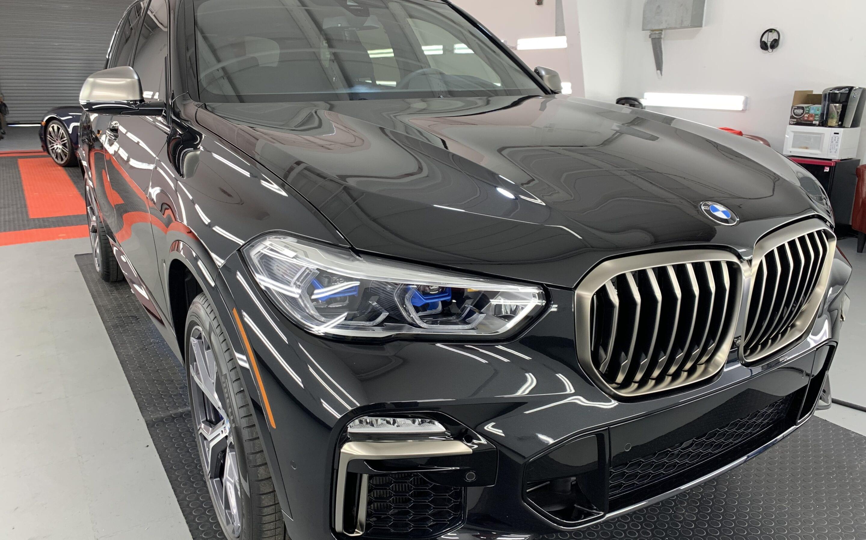 New Car Preparation of a 2021 BMW 5-Series X5