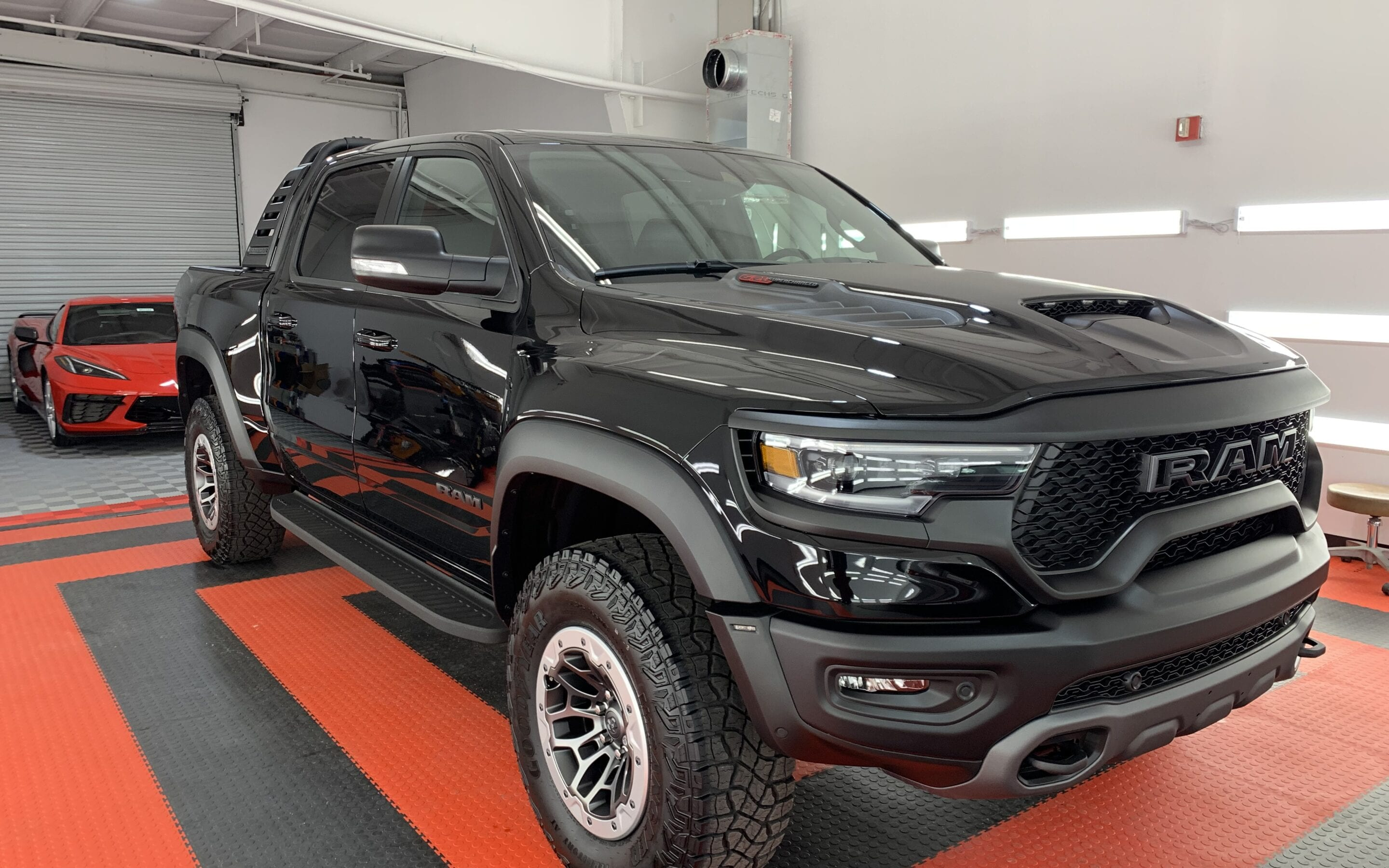 New Car Preparation of a 2021 Dodge Ram TRX