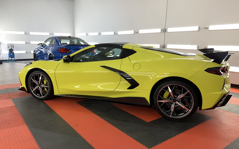 New Car Preparation of a 2021 Chevrolet Corvette