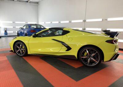 Photo of a New Car Preparation of a 2021 Chevrolet Corvette
