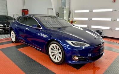 Ceramic Coating of a 2018 Tesla Model S