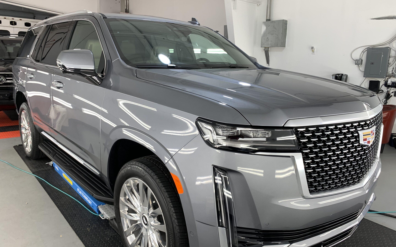Photo of a New Car Preparation of a 2021 Cadillac Escalade