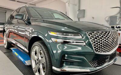 New Car Preparation of a 2021 Genesis GV80
