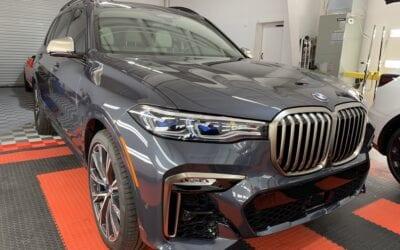 New Car Preparation of a 2021 BMW 7-Series
