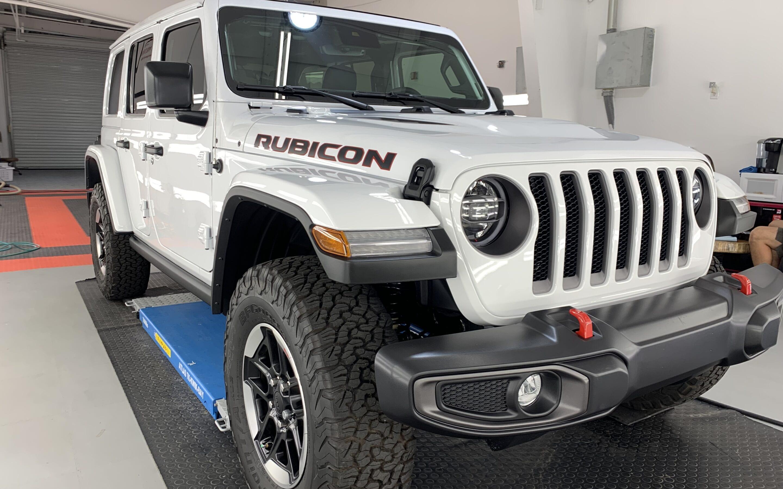New Car Preparation of a 2021 Jeep Wrangler