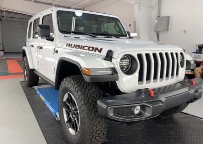 Photo of a New Car Preparation of a 2021 Jeep Wrangler