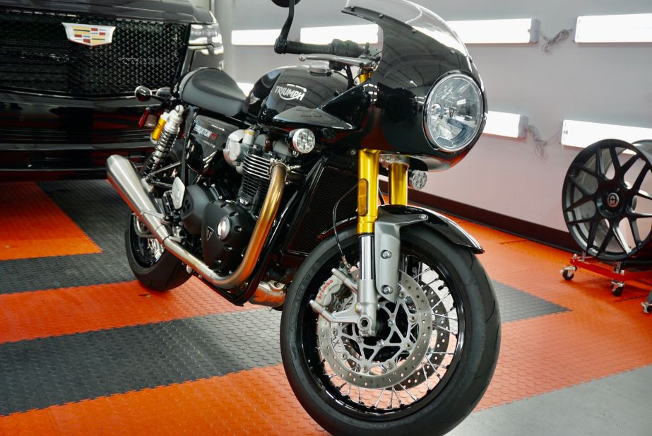 Ceramic Coating of a 2021 Triumph Motorcycle