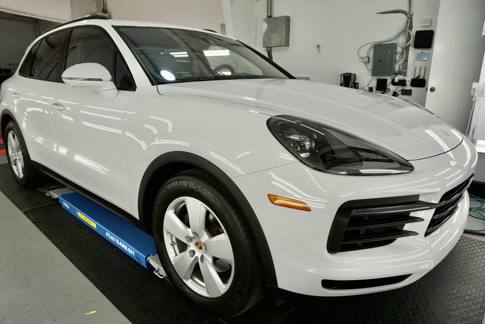 New Car Preparation of a 2021 Porsche Cayenne