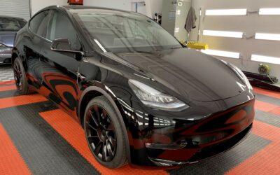 New Car Preparation of a 2021 Tesla Model Y