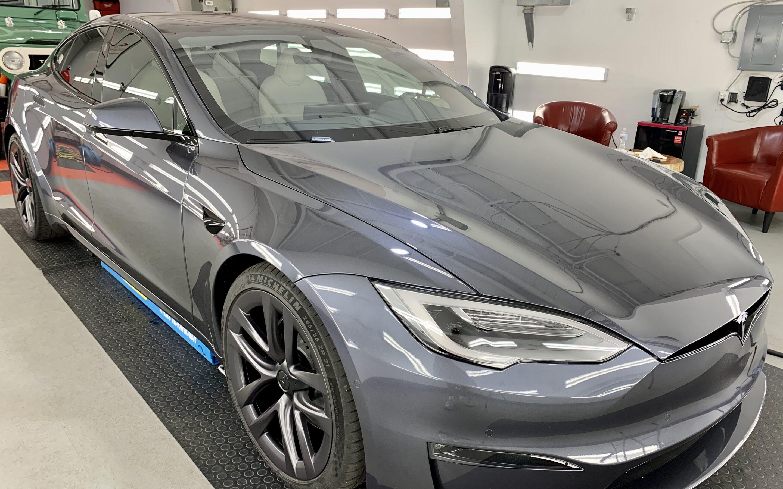 New Car Preparation of a 2021 Tesla Model S